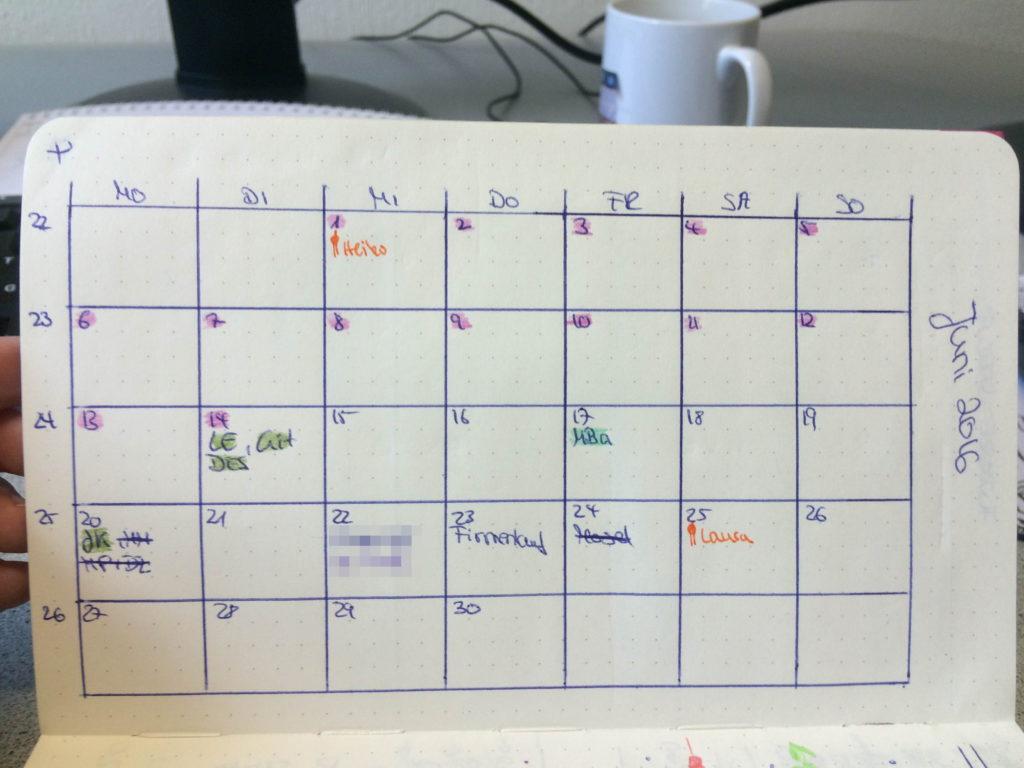 kalender grid
