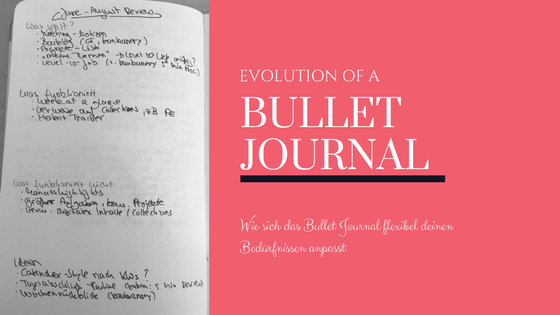 Bullet Journal Evolution