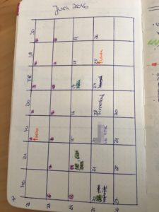 Bullet Journal Monat Kalender